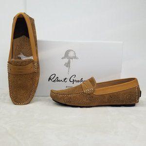 Robert Graham Men's Rampa Slip On Loafers Cognac